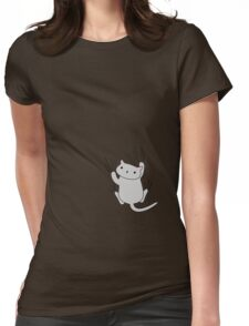Excuse me, there's a kitten on your shirt. Womens Fitted T-Shirt