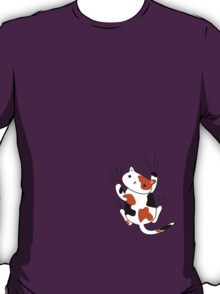 Excuse me, there's a calico kitten on your shirt. T-Shirt