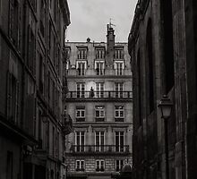 Woman on her balcony in Paris by Olivier Sohn