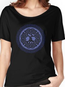 Celtic Tree of Life, blue Women's Relaxed Fit T-Shirt