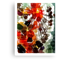 Ferris Wheel - Flashback To Childhood Fun - Digital Graphic Canvas Print