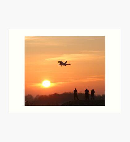 RAF Coningsby Sunset Art Print