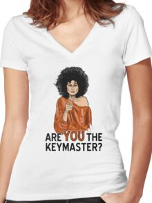 Are You the Keymaster? Women's Fitted V-Neck T-Shirt