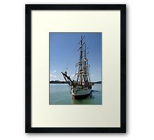 Picton Castle at the end of the voyage........! Framed Print