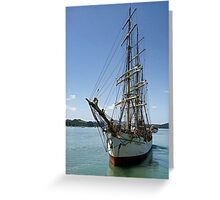 Picton Castle at the end of the voyage........! Greeting Card