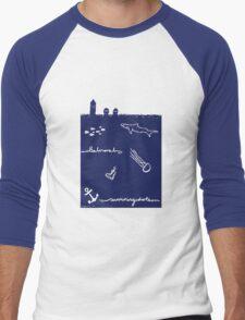 swimming idiots Men's Baseball ¾ T-Shirt
