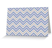 CHEVRON PATTERN / ZIG ZAGS - Rose Quartz and Serenity (Pantone Colors of the Year 2016) Greeting Card