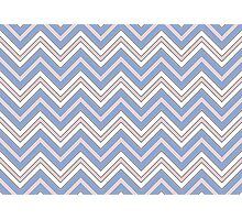 CHEVRON PATTERN   ZIG ZAGS   Rose Quartz and Serenity   Pantone Colors of the Year 2016 Photographic Print
