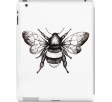 Black and White Bumble-Bee drawing. iPad Case/Skin