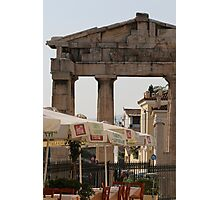 Cafe in Athens Photographic Print