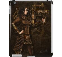 Steam Punk Girl Holding Antique Rocket Launcher iPad Case/Skin