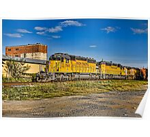 UP Engine 1768 and Train Poster