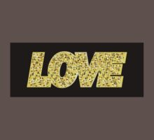 LOVE, gold letters One Piece - Short Sleeve
