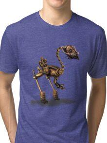 Steam Punk Robot Birdie Tri-blend T-Shirt