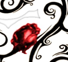 Three Red Roses Sticker