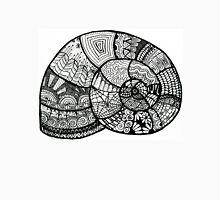 Zentangle shell design in Black and White Unisex T-Shirt