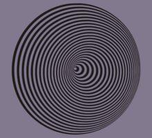 Vortex, optical illusion black and white Kids Tee