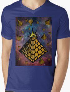 Space Pyramids Mens V-Neck T-Shirt