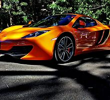 Orange Mclaren at Belair Country Club by Ferenghi