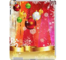 Colorful Background with Xmas Balls 3 iPad Case/Skin