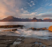 Elgol Sunset in November. Loch Scavaig. Isle of Skye. Scotland. by photosecosse /barbara jones