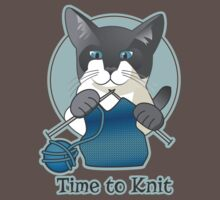 Time to Knit Siamese Cat Knitting One Piece - Short Sleeve