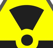 Radioactive Warning Sticker