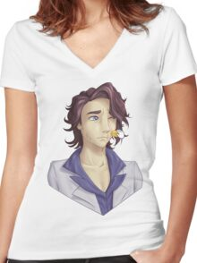 Professor Sycamore-Amie! Women's Fitted V-Neck T-Shirt