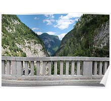 Friulian Dolomites with Foreground Barrier Poster
