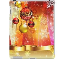 Colorful Background with Xmas Balls 4 iPad Case/Skin