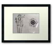 Love, Peace, and Harry Framed Print