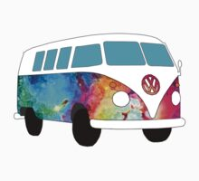 VW Rainbow Hippie Bus! by Maggie Smith