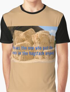 Who was the one who put the needle in the haystack anyway? Graphic T-Shirt