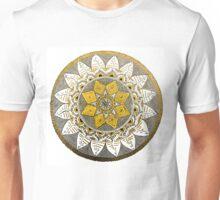 Bronze mandala design. Unisex T-Shirt