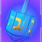 My Blue Glass Dreidel Poster by Lotacats