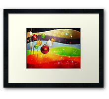 Colorful Background with Xmas Balls 5 Framed Print