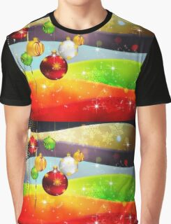 Colorful Background with Xmas Balls 5 Graphic T-Shirt