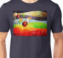 Colorful Background with Xmas Balls 5 Unisex T-Shirt