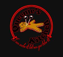 Queenie's Kitchen-red lined T-Shirt