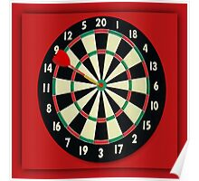☀ ツ DARTBOARD WITH DART ☀ ツ Poster