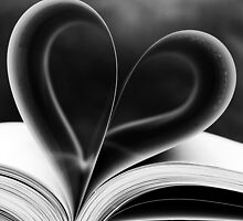 Heart shaped book pages by Luigi Masella