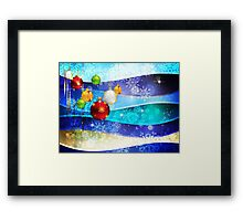 Colorful Background with Xmas Balls 6 Framed Print
