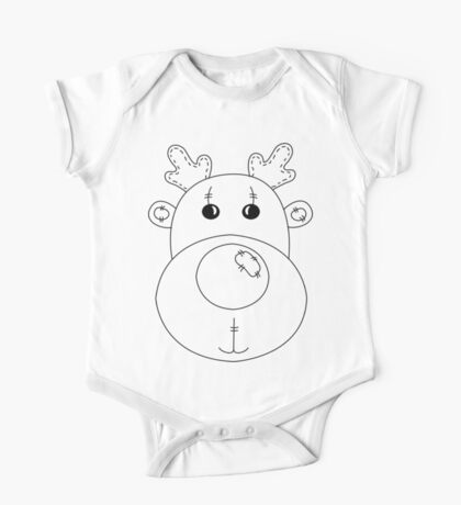 Rudolph the Red Nose Reindeer One Piece - Short Sleeve