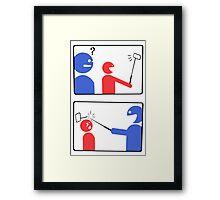 Selfie Smash funny nerd geek geeky Framed Print