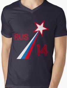 RUSSIA STAR Mens V-Neck T-Shirt