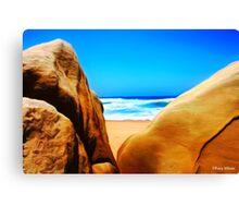 Beach Boulders Canvas Print