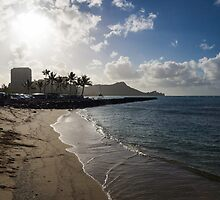 Sun, Sand and Waves - Waikiki, Honolulu, Hawaii by Georgia Mizuleva