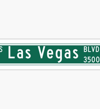 "Las Vegas Blvd. ""The Strip"", Street Sign, Las Vegas, Nevada Sticker"
