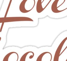 Love Chocolate Sticker