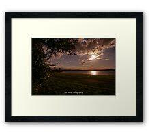 RUTLAND WATER SUNSET……. Framed Print